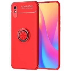 Funda Magnetica Soporte con Anillo Giratorio 360 para Xiaomi Redmi 9A / 9AT Roja