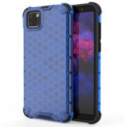 Funda Tipo Honeycomb Armor (Pc+Tpu) Azul para Huawei Y5p