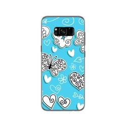 Funda Gel Tpu para Samsung Galaxy S8 Diseño Mariposas Dibujos