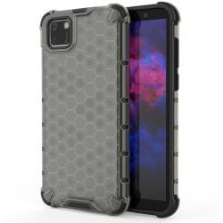 Funda Tipo Honeycomb Armor (Pc+Tpu) Negra para Huawei Y5p
