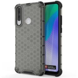 Funda Tipo Honeycomb Armor (Pc+Tpu) Negra para Huawei Y6p