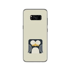 Funda Gel Tpu para Samsung Galaxy S8 Diseño Pingüino Dibujos