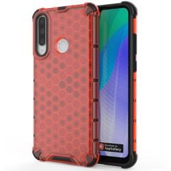 Funda Tipo Honeycomb Armor (Pc+Tpu) Roja para Huawei Y6p