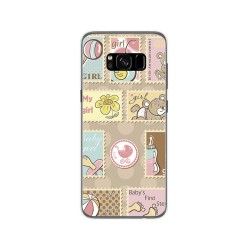 Funda Gel Tpu para Samsung Galaxy S8 Diseño Sellos Dibujos