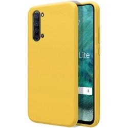 Funda Silicona Líquida Ultra Suave para Oppo Find X2 Lite color Amarilla