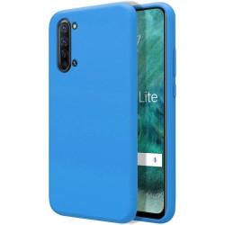 Funda Silicona Líquida Ultra Suave para Oppo Find X2 Lite color Azul