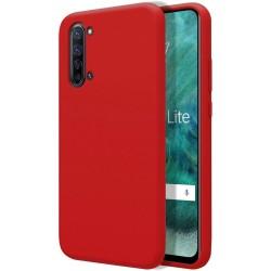 Funda Silicona Líquida Ultra Suave para Oppo Find X2 Lite color Roja