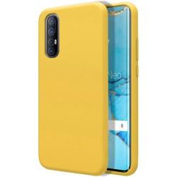 Funda Silicona Líquida Ultra Suave para Oppo Find X2 Neo color Amarilla