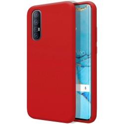 Funda Silicona Líquida Ultra Suave para Oppo Find X2 Neo color Roja
