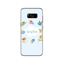 Funda Gel Tpu para Samsung Galaxy S8 Diseño Spring Birds Dibujos