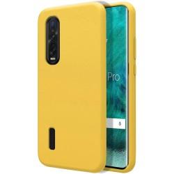 Funda Silicona Líquida Ultra Suave para Oppo Find X2 Pro color Amarilla