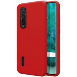 Funda Silicona Líquida Ultra Suave para Oppo Find X2 Pro color Roja