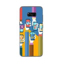 Funda Gel Tpu para Samsung Galaxy S8 Plus Diseño Apps Dibujos