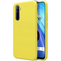 Funda Silicona Líquida Ultra Suave para Realme 6 color Amarilla