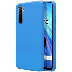 Funda Silicona Líquida Ultra Suave para Realme 6 color Azul