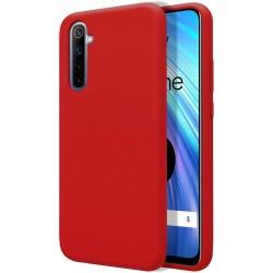 Funda Silicona Líquida Ultra Suave para Realme 6 color Roja