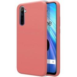 Funda Silicona Líquida Ultra Suave para Realme 6 color Rosa