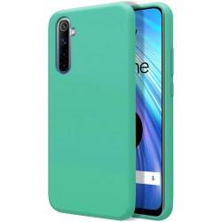 Funda Silicona Líquida Ultra Suave para Realme 6 color Verde