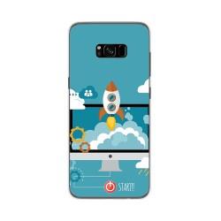 Funda Gel Tpu para Samsung Galaxy S8 Plus Diseño Cohete Dibujos