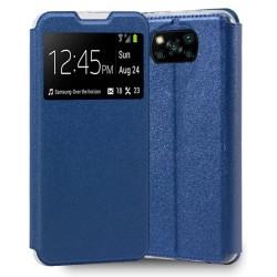 Funda Libro Soporte con Ventana para Xiaomi POCO X3 NFC / X3 PRO color Azul