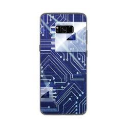 Funda Gel Tpu para Samsung Galaxy S8 Plus Diseño Circuito Dibujos
