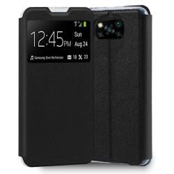 Funda Libro Soporte con Ventana para Xiaomi POCO X3 NFC / X3 PRO color Negra