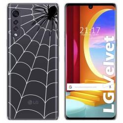 Funda Gel Transparente para LG Velvet 5G diseño Araña Dibujos