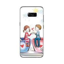Funda Gel Tpu para Samsung Galaxy S8 Plus Diseño Cafe Dibujos