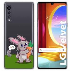 Funda Gel Transparente para LG Velvet 5G diseño Conejo Dibujos