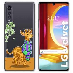 Funda Gel Transparente para LG Velvet 5G diseño Jirafa Dibujos