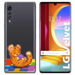 Funda Gel Transparente para LG Velvet 5G diseño Leopardo Dibujos