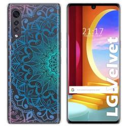 Funda Gel Transparente para LG Velvet 5G diseño Mandala Dibujos