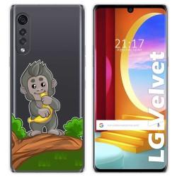 Funda Gel Transparente para LG Velvet 5G diseño Mono Dibujos