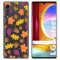 Funda Gel Transparente para LG Velvet 5G diseño Otoño Dibujos