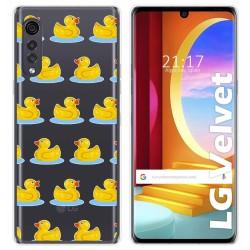 Funda Gel Transparente para LG Velvet 5G diseño Pato Dibujos