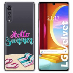 Funda Gel Transparente para LG Velvet 5G diseño Summer Dibujos