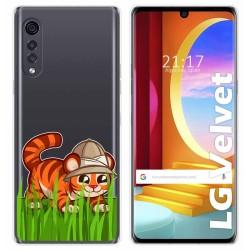 Funda Gel Transparente para LG Velvet 5G diseño Tigre Dibujos