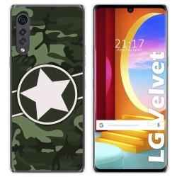 Funda Gel Tpu para LG Velvet 5G diseño Camuflaje 01 Dibujos