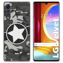 Funda Gel Tpu para LG Velvet 5G diseño Camuflaje 02 Dibujos