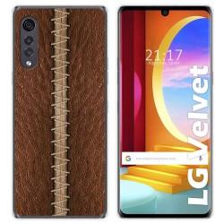 Funda Gel Tpu para LG Velvet 5G diseño Cuero 01 Dibujos