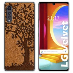 Funda Gel Tpu para LG Velvet 5G diseño Cuero 03 Dibujos