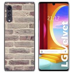 Funda Gel Tpu para LG Velvet 5G diseño Ladrillo 01 Dibujos