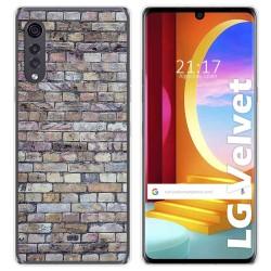 Funda Gel Tpu para LG Velvet 5G diseño Ladrillo 02 Dibujos