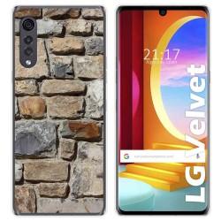 Funda Gel Tpu para LG Velvet 5G diseño Ladrillo 03 Dibujos