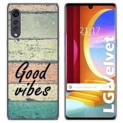 Funda Gel Tpu para LG Velvet 5G diseño Madera 01 Dibujos