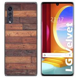 Funda Gel Tpu para LG Velvet 5G diseño Madera 03 Dibujos