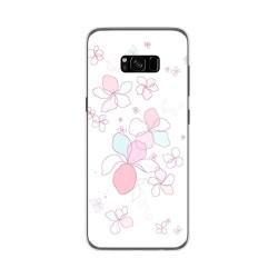 Funda Gel Tpu para Samsung Galaxy S8 Plus Diseño Flores Minimal Dibujos