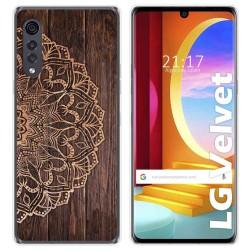 Funda Gel Tpu para LG Velvet 5G diseño Madera 06 Dibujos
