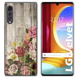 Funda Gel Tpu para LG Velvet 5G diseño Madera 08 Dibujos