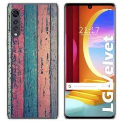 Funda Gel Tpu para LG Velvet 5G diseño Madera 10 Dibujos